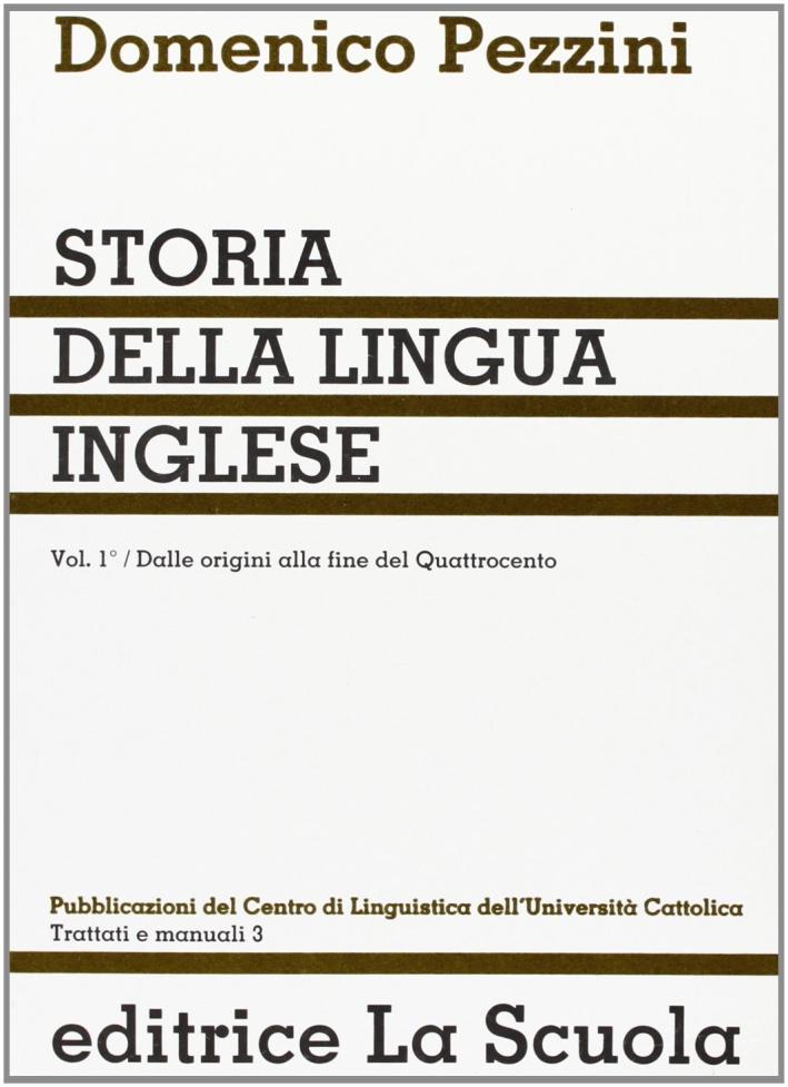 9788835070030 Domenico Pezzini 1981 Storia Della Lingua Inglese