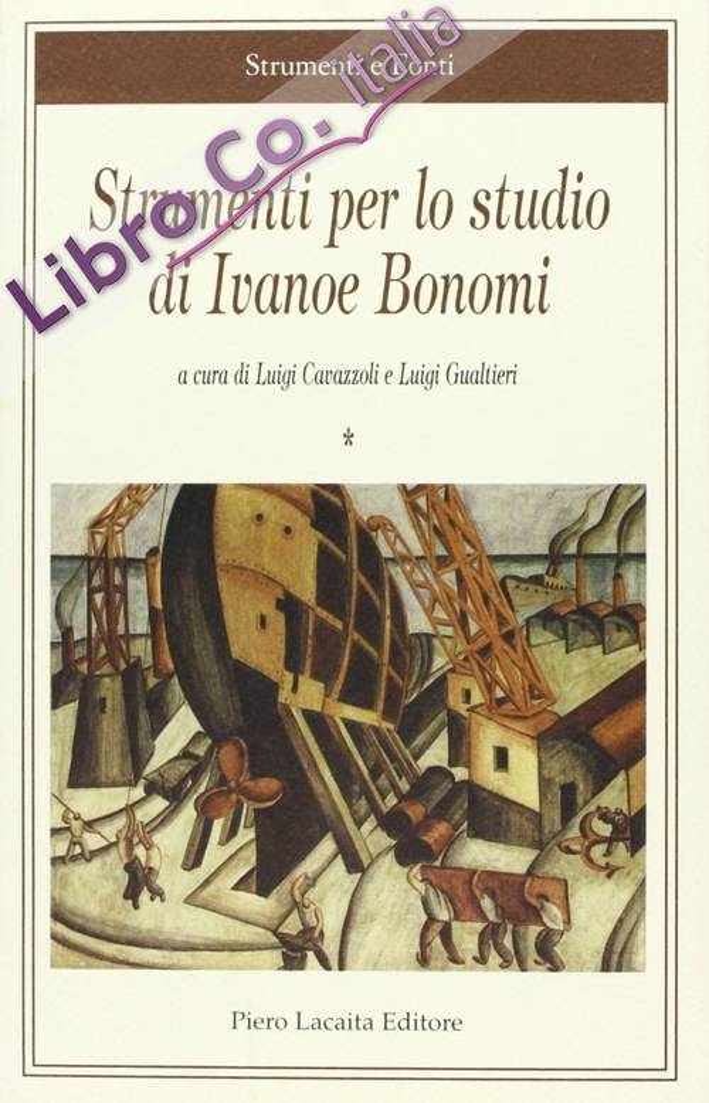 Strumenti per lo studio di Ivanoe Bonomi.