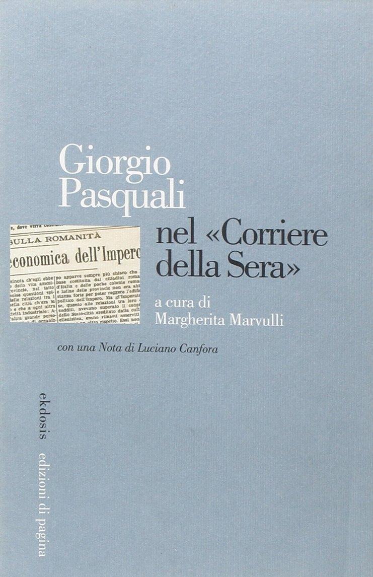 Giorgio Pasquali nel