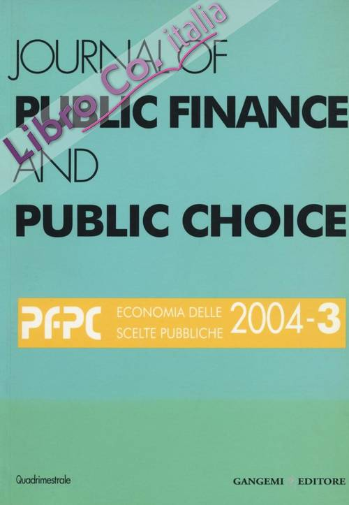 Journal of public finance and public choice. 3/2004