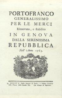 Portofranco generalissimo per le merci. 1763