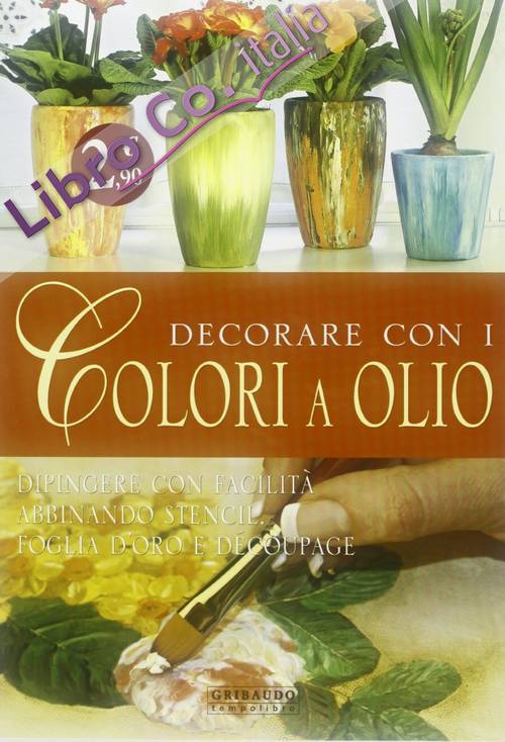 Decorare con i colori a olio.