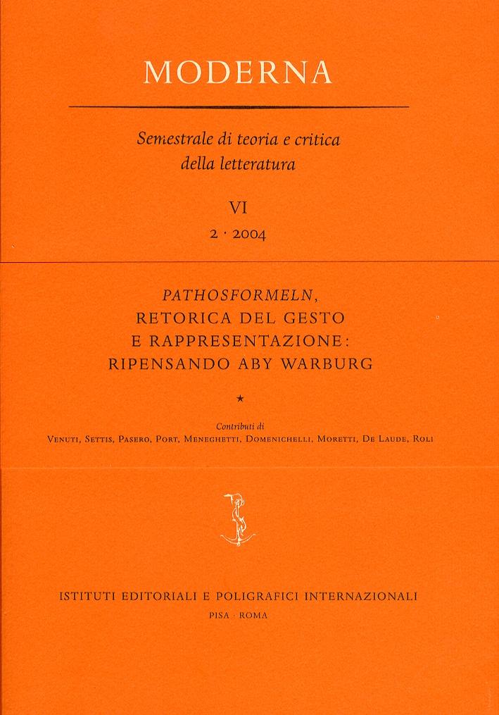 Pathosformeln, retorica del gesto e rappresentazione. ripensando Aby Warburg. 6. 2. 2004.