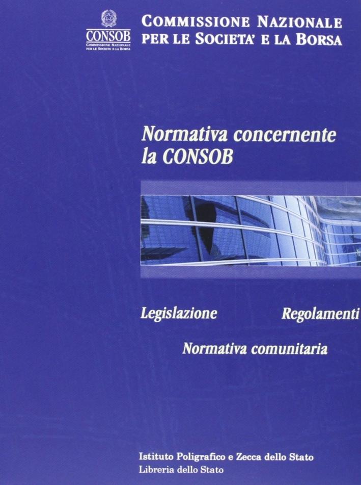 Normativa concernente la Consob. CD-ROM