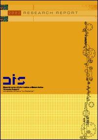 Dipartimento di Informatica e Sistemistica «Antonio Ruberti». Univertità di Roma «La Sapienza». Research report 2002