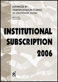 Advances in transportation studies. An international journal. Institutional subscription (2006)
