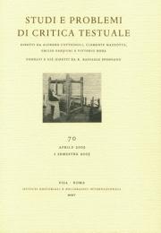 Studi e problemi di critica testuale. Vol. 72. 1. 2006