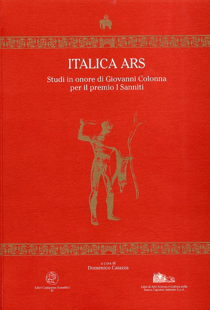 Italica ars. Studi in onore di Giovanni Colonna per il premio I Sanniti