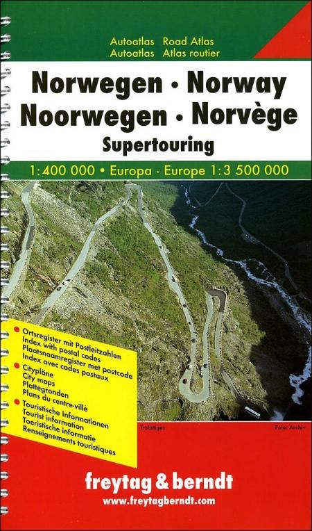 Norvegia. Atlante stradale 1:400.000 Europa 1:3.500.000