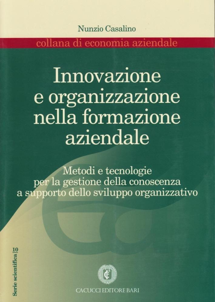 Innovazione e organizzazione nella formazione aziendale.