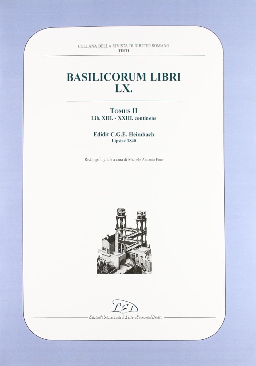 Rivista di diritto romano (2002). Vol. 2. Basilicorum libri LX tomus II (libri XIII-XXIII)