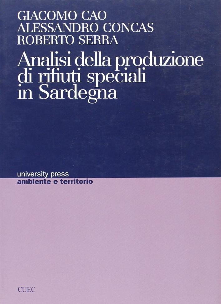 Analisi della produzione di rifiuti speciali in Sardegna