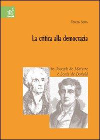 La critica alla democrazia in Joseph de Maistre e Louis de Bonald