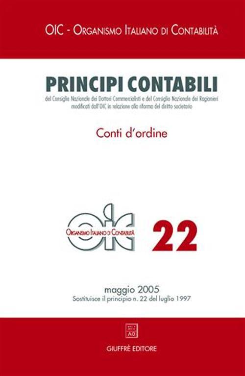 Principi contabili. Vol. 22: Conti d'ordine