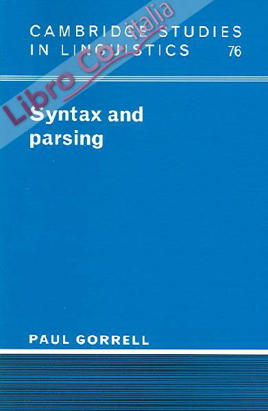 Syntax and Parsing