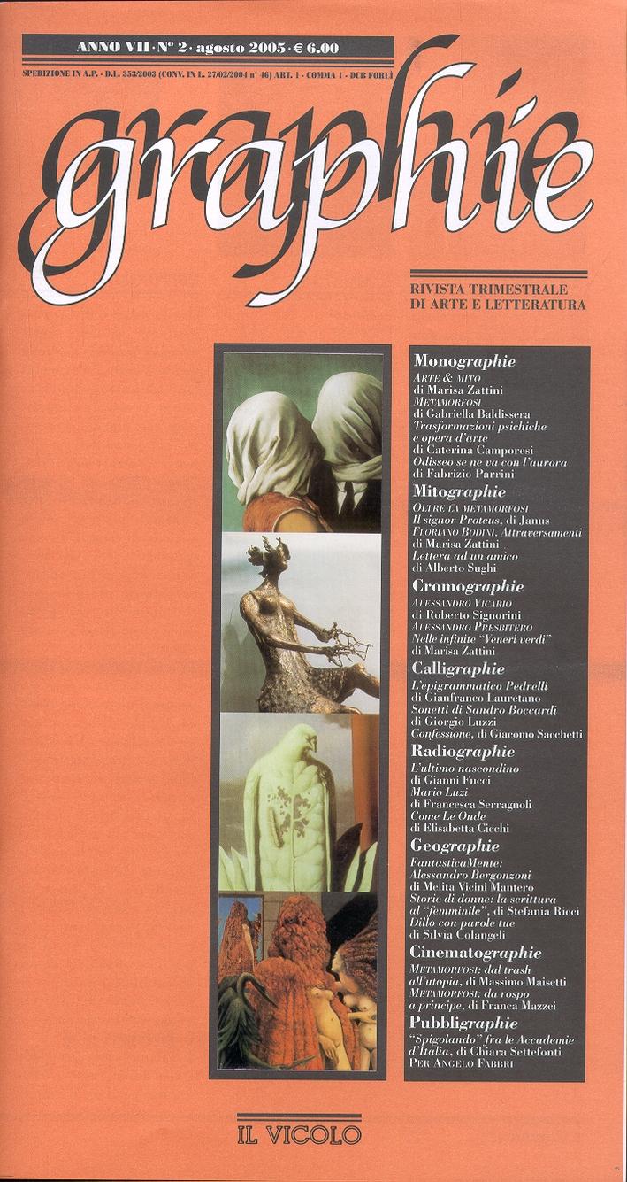 Graphie. Rivista di Arte e Letteratura Contemporanea. 7/2005. Anno VII