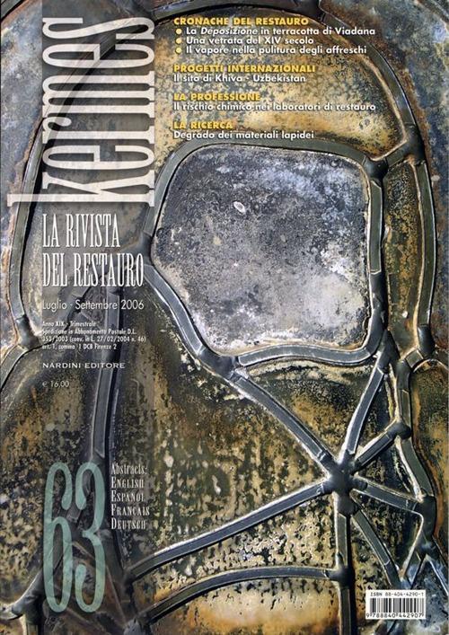 Kermes. La rivista del restauro. 63