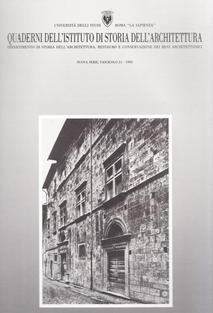 Quaderni dell'Istituto di storia dell'architettura. Nuova serie. Vol. 21
