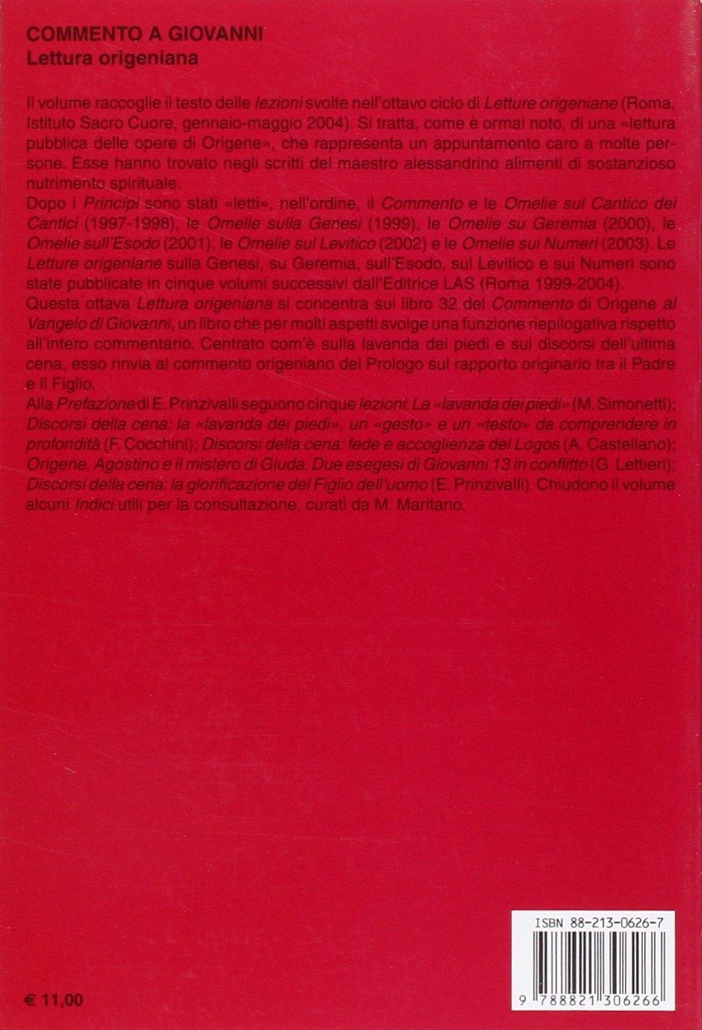 Commento a Giovanni. Lettura origeniana