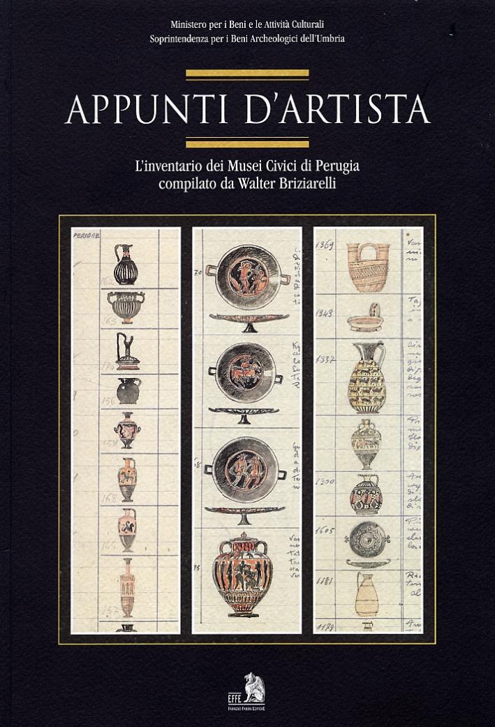 Appunti d'artista. L'inventario dei musei civici di Perugia compilato da Walter Briziarelli