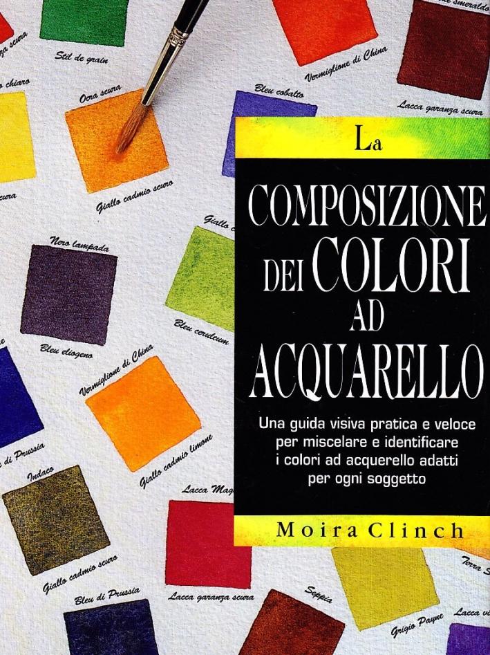La composizione dei colori ad acquarello.
