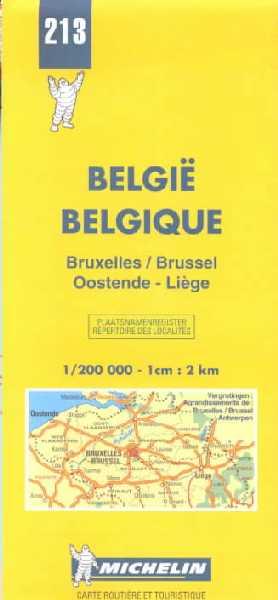 Belgique. Bruxelles, Oostende, Liège 1:200.000.