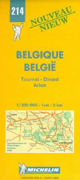 Belgique. Tournai, Dinant, Arlon 1:200.000