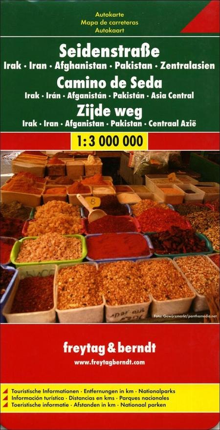 Cammino della seta. Iraq, Iran, Afghanistan, Pakistan, Asia Centrale 1:3.000.000