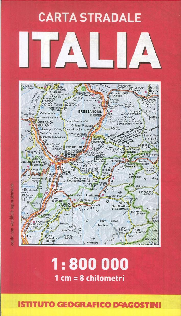 Carta stradale d'Italia 1:800.000Carta stradale d'Europa 1:3.000.000