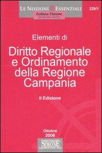 Diritto regionale e ordinamento delle regione Campania