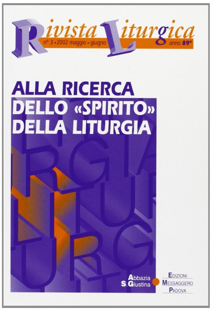 Rivista liturgica (2002). Vol. 3: Alla ricerca dello