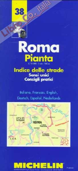 Roma. Pianta e indice 1:10.000