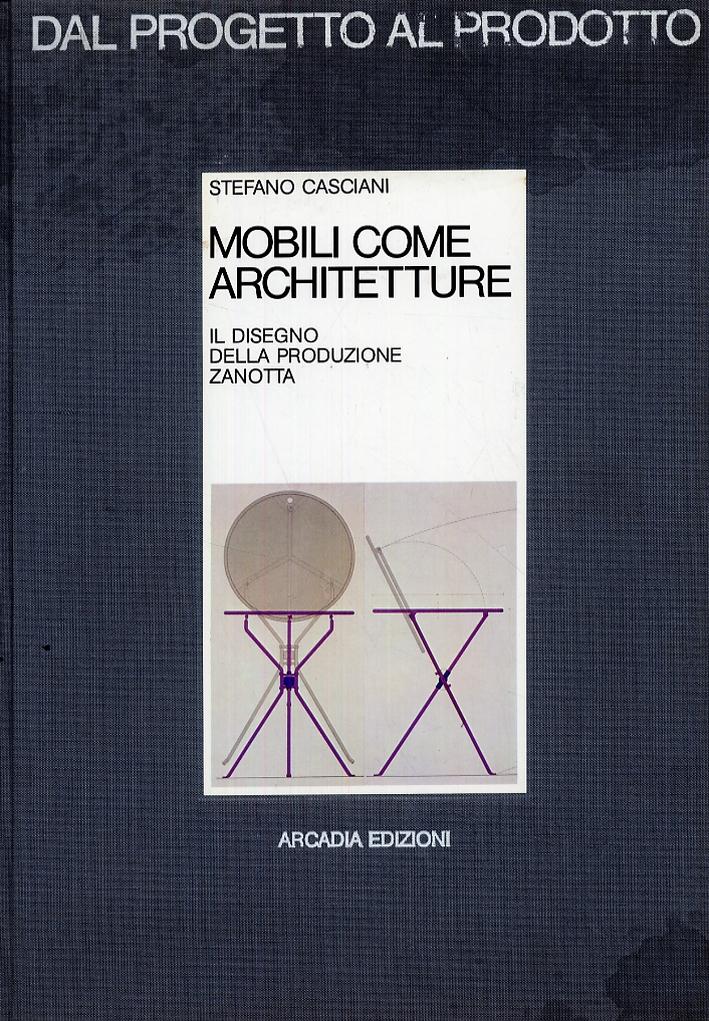 Mobili come architetture. Il disegno della produzione Zanotta.