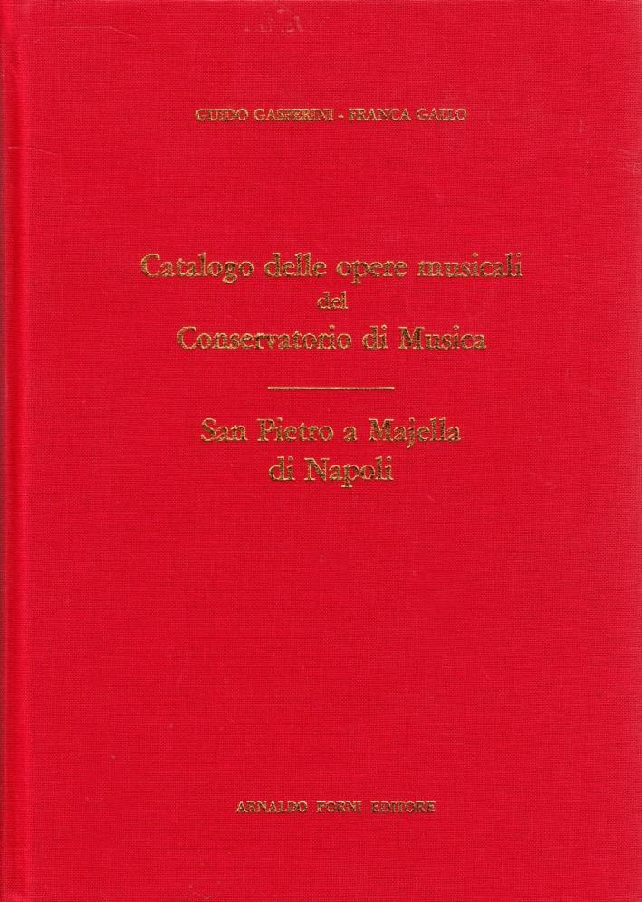 Catalogo delle opere musicali del conservatorio