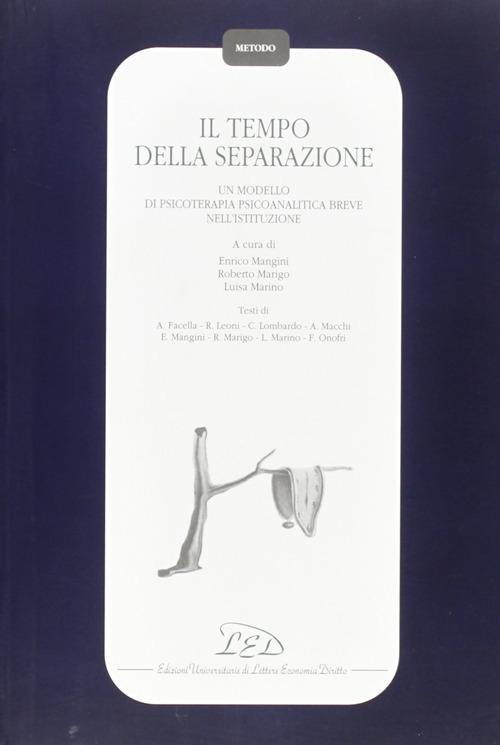 Il tempo della separazione. Un modello di psicoterapia psicoanalitica breve nell'istituzione.