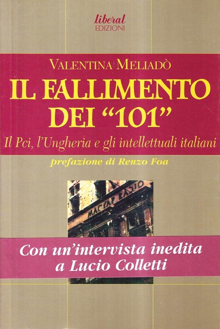 Il fallimento dei «101». Il PCI, l'Ungheria e gli intellettuali italiani