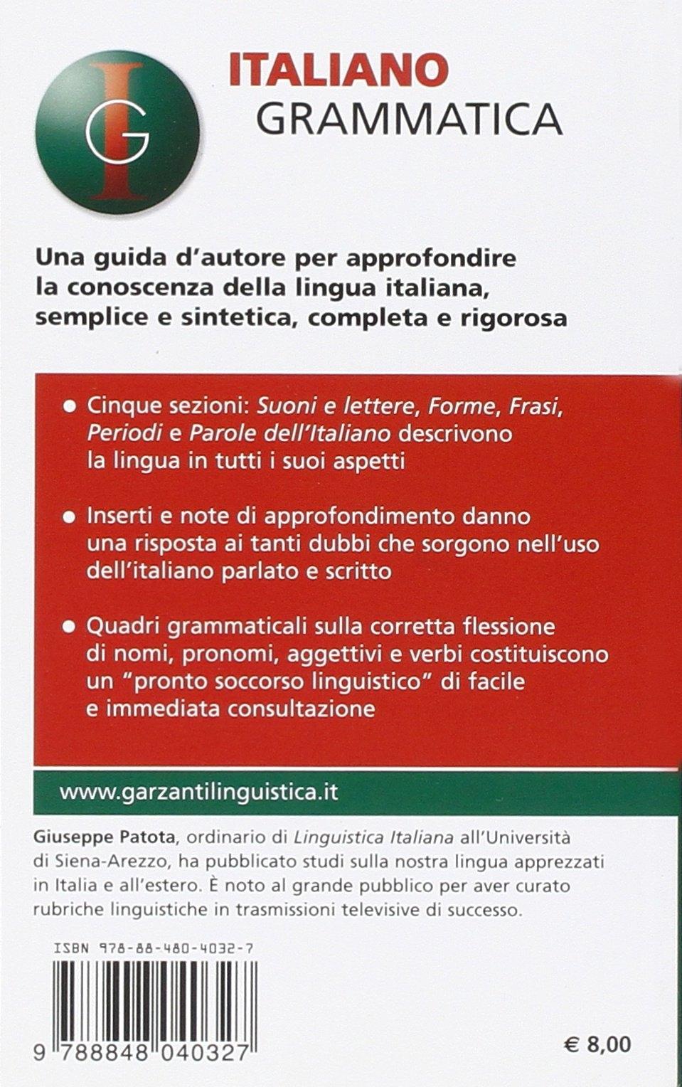 Italiano grammatica.