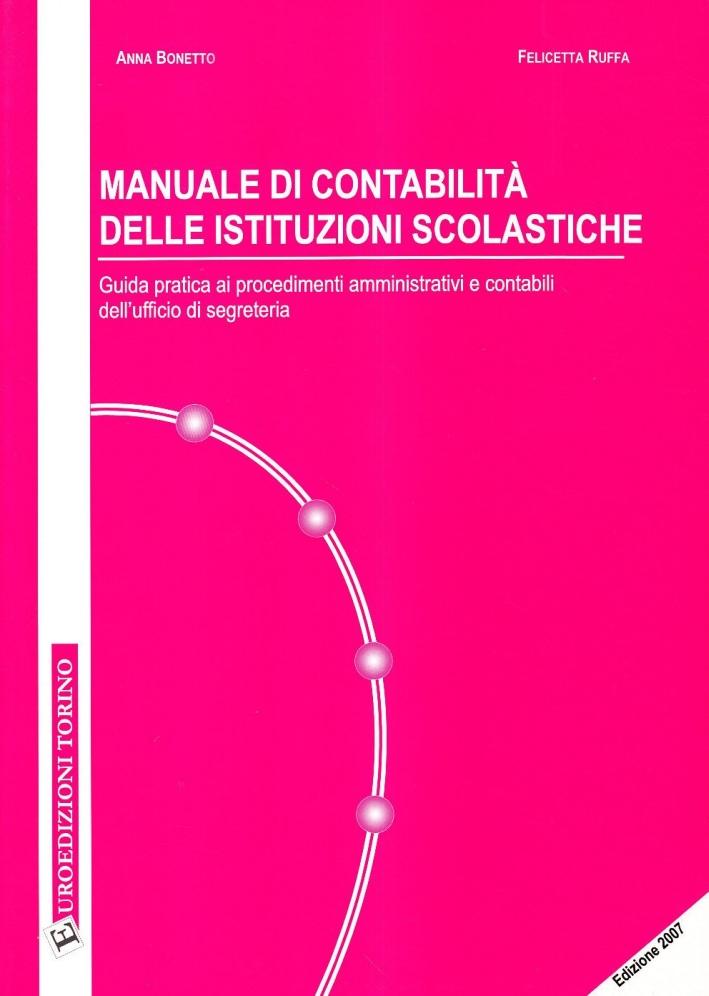 Manuale di contabilità delle istituzioni scolastiche
