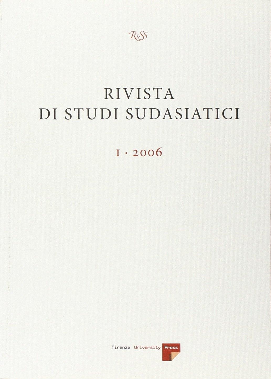 Rivista di studi sudasiatici (2006). Vol. 1