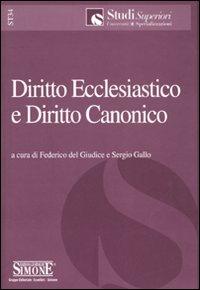 Diritto ecclesiastico e diritto canonico