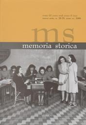 Memoria storica. Vol. 20