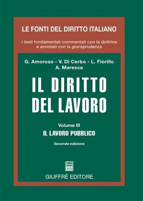 Diritto del lavoro. Vol. 3: Il lavoro pubblico