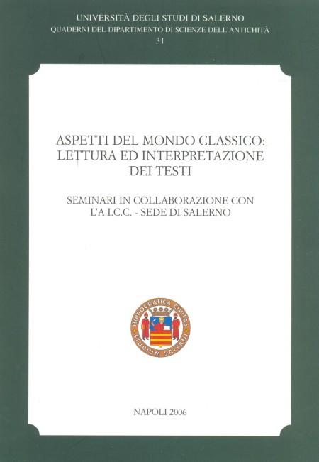 Aspetti del mondo classico. Lettura ed interpretazione dei testi