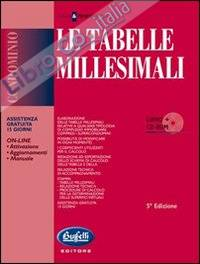 Le tabelle millesimali. Con CD-ROM