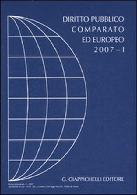 Rivista di Diritto Pubblico Comparato ed Europeo 2007/1.