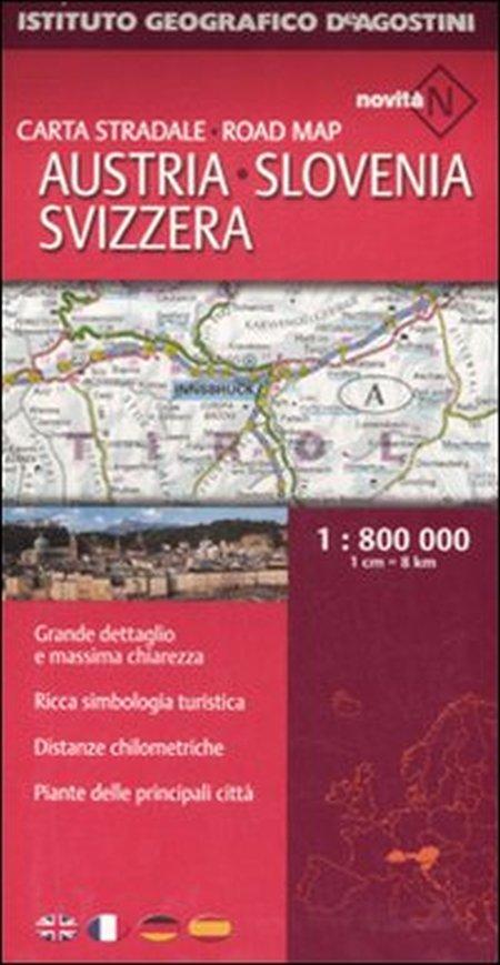 Austria, Slovenia, Svizzera 1:800.000