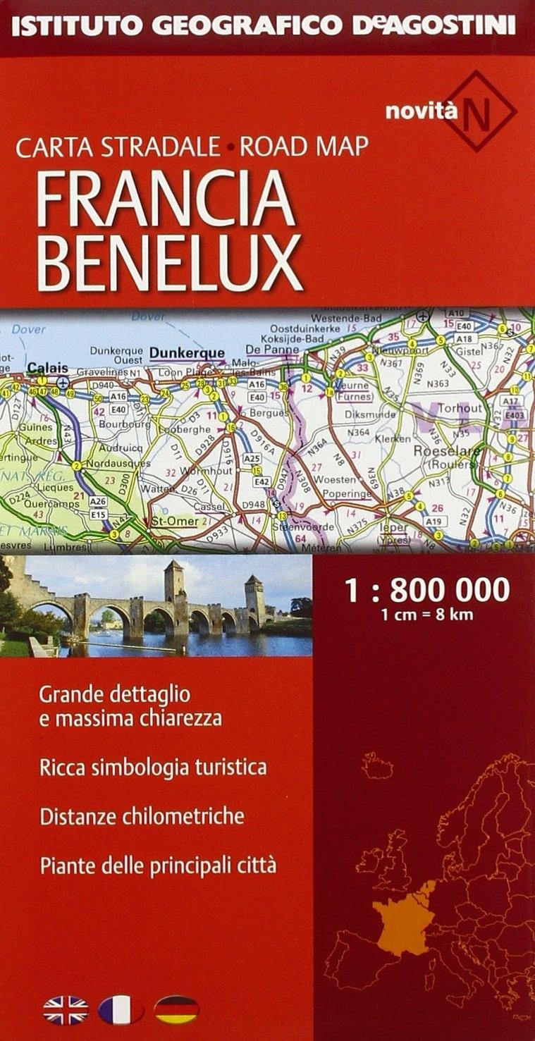 Francia. Benelux 1:800.000