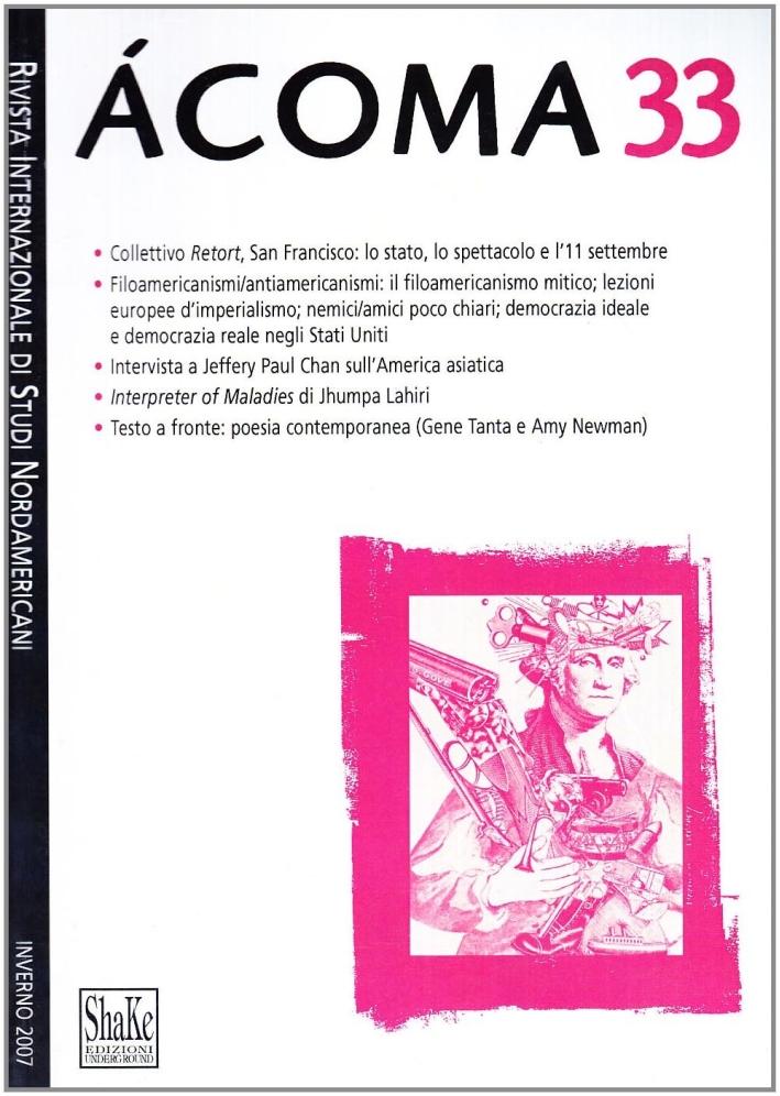 Ácoma. Rivista internazionale di studi nordamericani. Vol. 33.