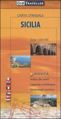 Sicilia. Carta stradale 1:200.000.