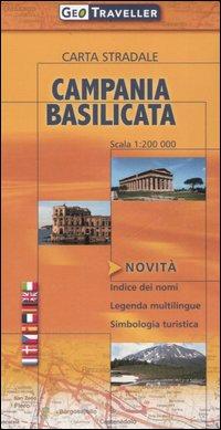Campania e Basilicata. Carta stradale 1:200.000.